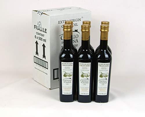 6 Flaschen 500 ml Picual Sorten - Castillo de Canena - Spanisch Natives Olivenöl extra, frisch direkt aus der produzierenden Mühle