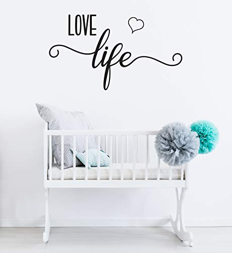 Sticker mural Love Life Black Saying Room Decoration Sticker mural pour chambre d'enfant CG1169