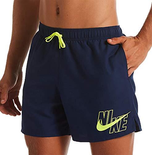 Nike 5 Volley Pantaloncini da Bagno da Uomo, Uomo, Costume da Bagno, NESSA566, Blu (Midnight Navy), L