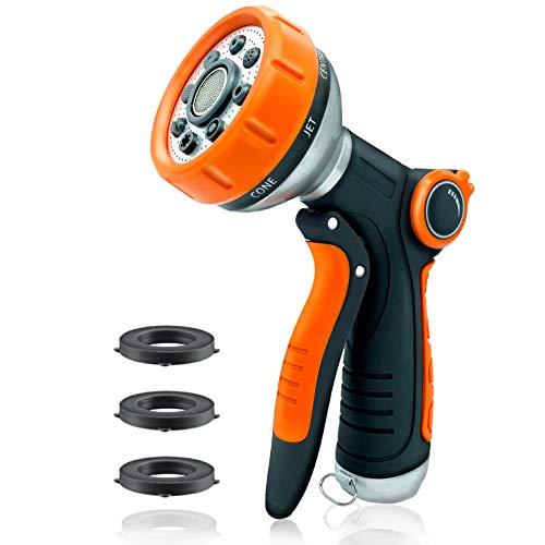 Uniticber Garden Hose Nozzle Water Hose Nozzle with 8 Adjustable Spray Patterns - Heavy Duty Hand...