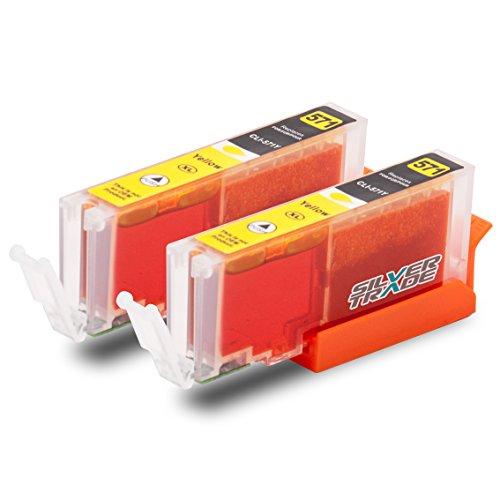2 Druckerpatronen kompatibel zu Canon CLI-571XL gelb mit CHIP & Füllstandsanzeige für Canon Pixma MG5750 MG5751 MG5752 MG5753 MG6850 MG6851 MG6852 MG6853 MG7750 MG7751 MG7752 MG7753 MG7752 MG7753