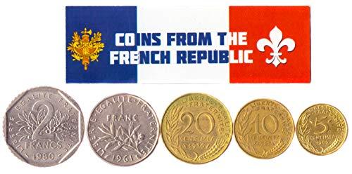 Hobby of Kings - Verschiedene Münzen - alte, sammelbare französische Devisen zum Sammeln