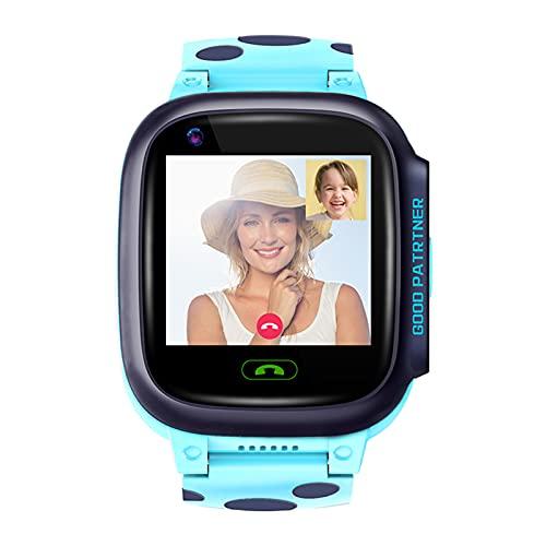 HQPCAHL Kids Smartwatch Phone WiFi + GPS + LBS Tracking Locator, IP67 Impermeable Reloj para Estudiantes para Niños con Videollamada Canciones...