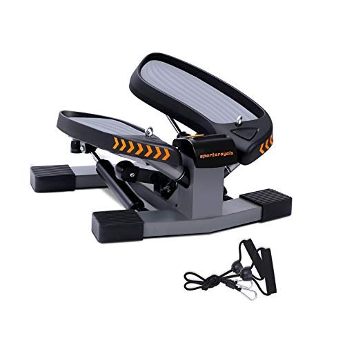 Sportsroyals Stair Stepper for Exercises-Twist Stepper with Resistance Bands and 330lbs Weight Capacity by Sportsroyals