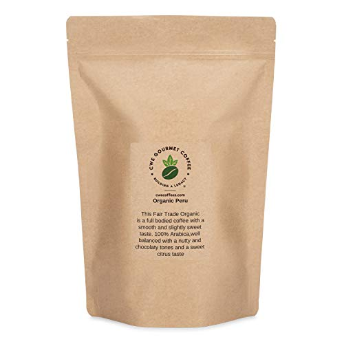 CWE Gourmet Coffees Raw Unroasted Whole Coffee Beans | Organic Peru | 3 Pound Bag |This is a Great Bean for Home Roasters
