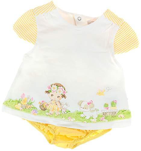Mayoral - Conjunto - para bebé niña Blanco, Amarillo 68 cm