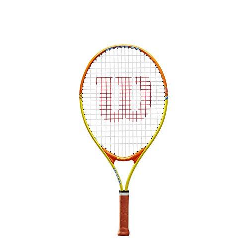 Wilson Slam 23, WRT20390U Racchetta da Tennis Giovani di Altezza Compresa fra 115 e 130 cm Unisex Bambini, Arancione/Grigio