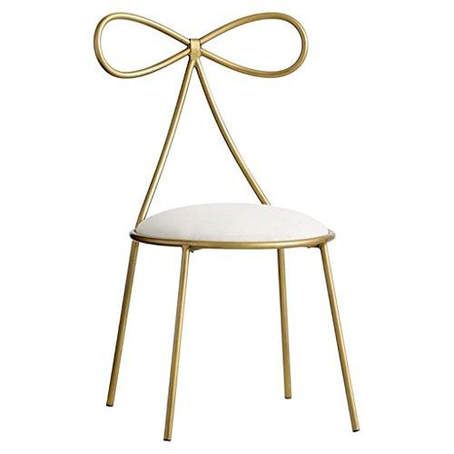 NYDZ Nordic mode smeedijzeren boog prinses meisje hart dressoir stoel enkele rug moderne minimalistische Nordic dressing kruk