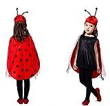 N / A Cosplay Regalo de la Novedad de Halloween Disfraz para niños Disfraz de Mariquita Disfraz de Mariquita Disfraz de Navidad Body Height:90-105cm