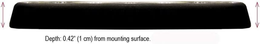 mpower 4 inch Fascia Light w//Stud Mount SoundOff Signal Single Color 18 Inch Hard Wire 6 LED White Black Housing