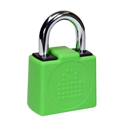 LocknCharge LNC10128 resetbaar sleutelloos hangslot voor carrier - silicone ommanteld groen