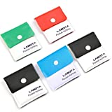 LABOTA Confezione da 5 portacenere - Posacenere portatile tascabili per sigarette Compact PVC ignifugo inodore - Multicolour