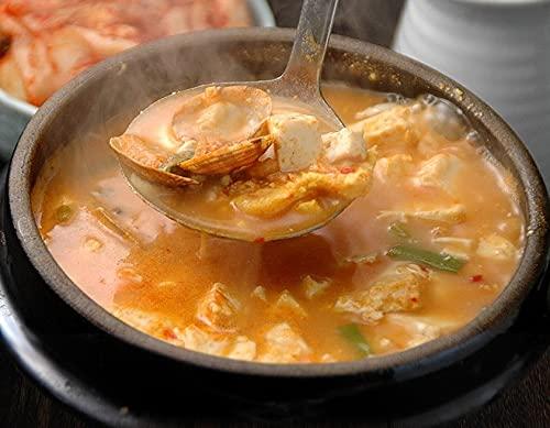 帆立・あさり・むき海老入り スントゥブチゲ(豆腐鍋)の素470g(約2人前) スンドゥブチゲ 純豆腐 冷凍便