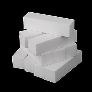 scheda anself 10pcs bianco buffer blocco acrilico nail art cura suggerimenti levigatura file strumento (10pcs)
