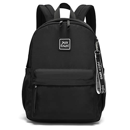 Caran·Y Mochilas casuales para niños y niñas mayores de 10 años (16-18 inc) bolsa ligera para la escuela.., Negro, M, M