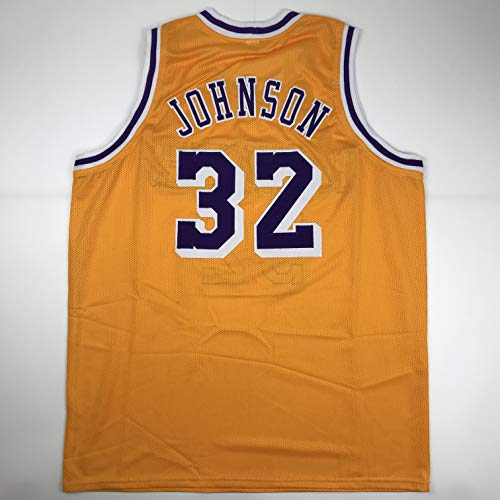 Unsigned Earvin Magic Johnson Los Angeles LA Yellow Custom Stitched Basketball Jersey Size Men's XL New No Brands/Logos