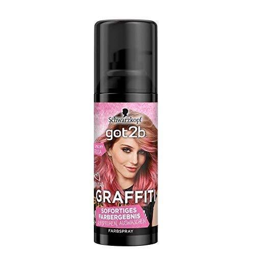 Schwarzkopf got2b GRAFFITI Farbspray, Unicorn Rosa, Haarspray, 1er Pack (1x 120ml)