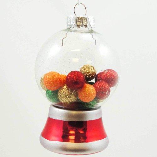Kauwgom automaat kerstbal 10 cm rood kristal
