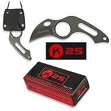 K25 K25-31849 - Cuchillo C/Funda KYDEX. 4 cm - Herramienta para Caza, Pesca, Camping, Outdoor, Supervivencia y Bushcraft