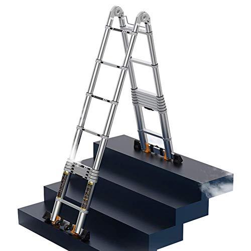 MNBV Escalera telescópica de Aluminio Multiusos para Trabajo Pesado - Escalera Plegable...