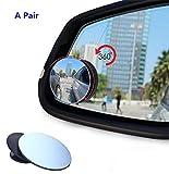 ForuMall Espejos universales para punto ciego, rotación de 360 grados, ajustable, sin marco, para punto ciego, espejos convexos de cristal