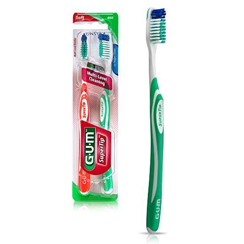 GUM Super Tip Toothbrush, Full Soft Bristles, Twin Pack