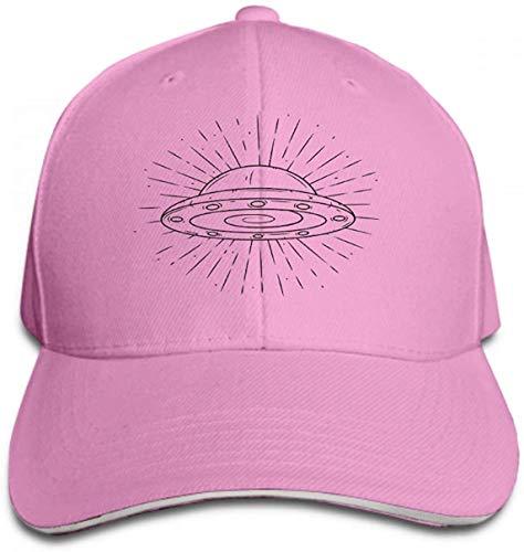 angwenkuanku Herren Vintage Dad Cowboy Hut Verstellbare Baseballkappe handgezeichnet UFO Divergent Strahlen Gebraucht Poster Banner Web Print Bag Pink Gorgeous30229