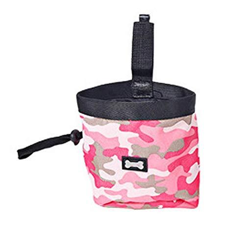 Fancylande hondentrainingsgordel met camouflage-patroon, tas voor afval buiten, tas voor honden, Roze.