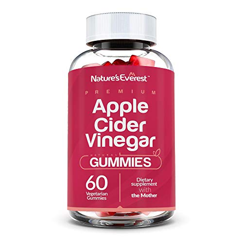 Apple Cider Vinegar Gummies - Raw, Organic, Vegan, Gluten-Free, Non-GMO, Unfiltered ACV with The Mother - More Efficient Than Pills & Tablets - Detox, and Weight-Loss - 60 Count