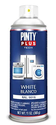 PINTYPLUS TECH 149 Pintura spray electrodomésticos 520cc Blanco Ral 9016, 300 g (Paquete de 1)