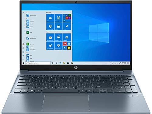 "HP Pavilion 15-eg0010ns – Ordenador portátil de 15.6"" FHD (Intel Core i5-1135G7, 16GB de RAM, 1TB SSD, NVIDIA MX350-2GB, Windows 10), Azul Aluminio - Teclado QWERTY Español"