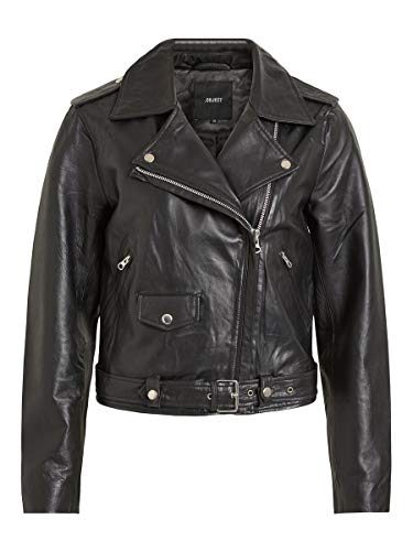 Object Female Lederjacke - Bikerlook 36Black