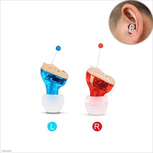 Digitaal gehoorapparaat, onzichtbaar mini lichtgewicht - 1 paar geluidsversterker, sound processor for doven (Color : Sound amplifier, Size : Red)