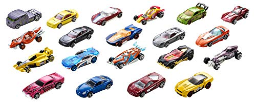 Hot Wheels Pack de 20 vehiculos, coches de juguete (modelos surtidos)