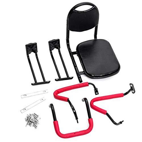 CRMY Seggiolino per Bicicletta per Bambini, Sedile Posteriore per Bicicletta con braccioli e Schienale e poggiapiedi per Bambini da 2 a 8 kg e Fino a 50 kg