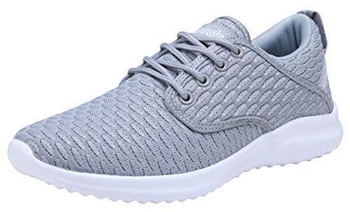 COODO Women's Athletic Shoes Casual Breathable Sneakers CD7003 (6 M US,Steel Grey)