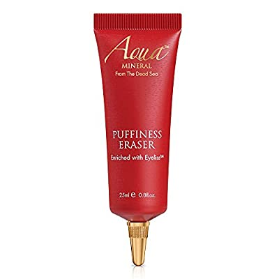 Aqua Mineral Puffiness Eraser 25 ml Dead Sea Mineral Based Anti Aging Eye Cream for Women and Men. Hydrating and firming Under Eye Cream. Natural Treatment. by Aqua Mineral