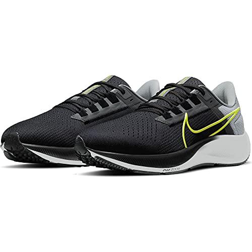 Nike Air Zoom Pegasus 38, Zapatillas para Correr Hombre, Dk Smoke Grey Volt Smoke Grey Lt Smoke Grey Wild Berry, 41 EU
