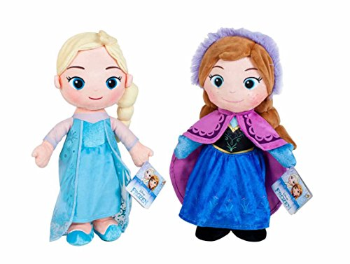 Play by Play - Peluche de la película Frozen - Elsa & Anna 30 cm (Disney) (Play by Play 760015430). , color/modelo surtido