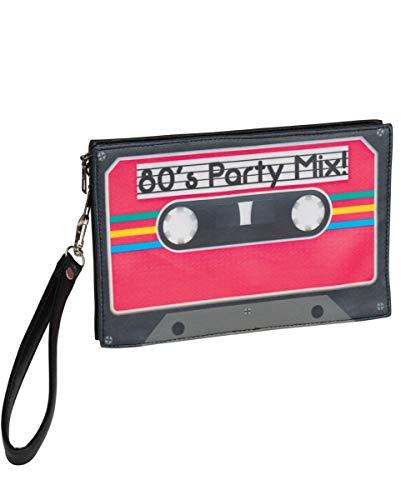 Horror-Shop 80er Jahre Retro Kassetten Handtasche für Fasching & Motto Party