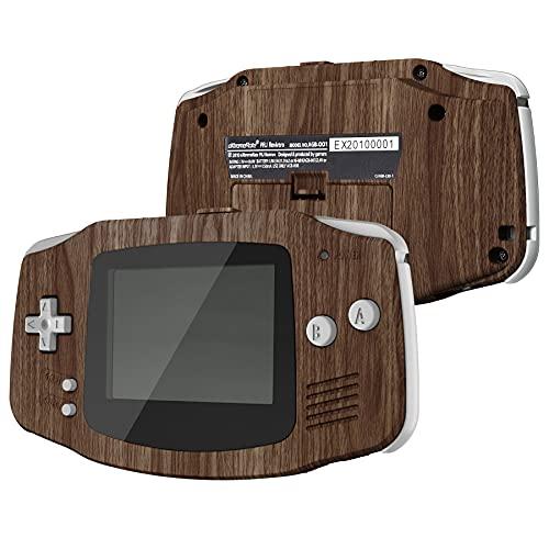 IPS Ready Upgraded eXtremeRate Carcasa para Gameboy Advance Funda Protector Placa Cubierta Shell con Botones para GBA-Compatible con IPS & LCD Estándar-NO Incluye Consola&Pantalla IPS(Grano de Madera)