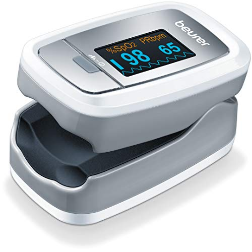 Beurer Bluetooth Digital Fingertip Pulse Oximeter, Blood Oxygen Saturation & Pulse Rate Monitor With Accessories