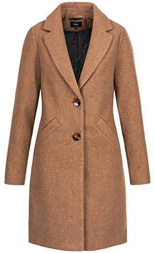 Only ONLVERONICA Coat OTW Abrigo, marrón claro, M para Mujer