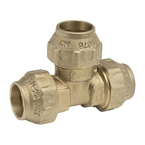 RIEGOPRO TE Igual Fabricado en Latón. Utilizado para Unir tramos de Tuberías de Riego de Polietileno. Disponible en 20mm, 25mm, 32mm, 40mm, 50mm y 63mm (20mm)
