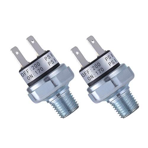 Air Pressure Switch 170-200 PSI Pressure Switch 1/4'-18 NPT DC 24V 12V Pressure Switch Air Compressor Pressure Switch 200PSI Pressure Switch Air Horn/Tank Pressure Switch