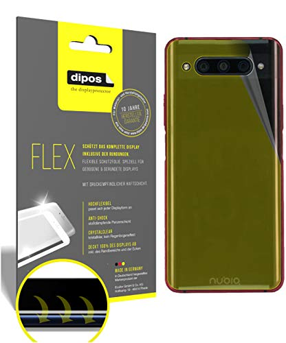 dipos I 3X Schutzfolie 100prozent passend für ZTE Nubia Z20 Rückseite Folie I 3D Full Cover Bildschirmschutzfolie