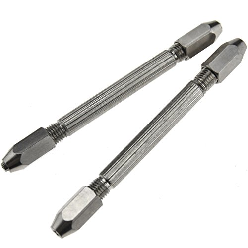 2Pcs Hexagonal Double Ended Pin Vice Wire Tool