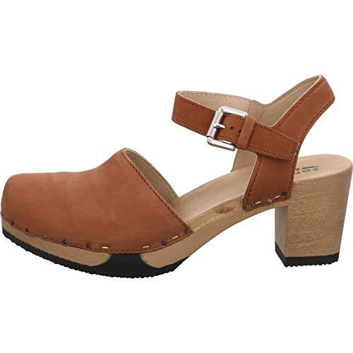 Softclox S3523 Vonda Nature Nappa - Damen Schuhe offene Schuhe - 02-Cognac, Größe:41 EU