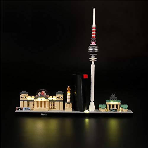 LODIY Beleuchtung Licht Set LED Beleuchtungsset für Lego 21027 Architecture Berlin Skyline (Nicht Enthalten Lego Modell)