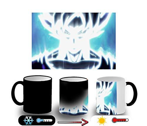 MERCHANDMANIA Taza MÁGICA Goku Limit Breaker Ultra Instinct Magic mug